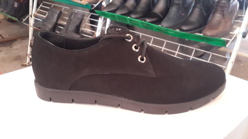 Женские замшевые туфли. Украина.