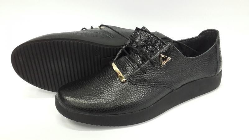 Туфли на шнурках из натуральной кожи. Украина