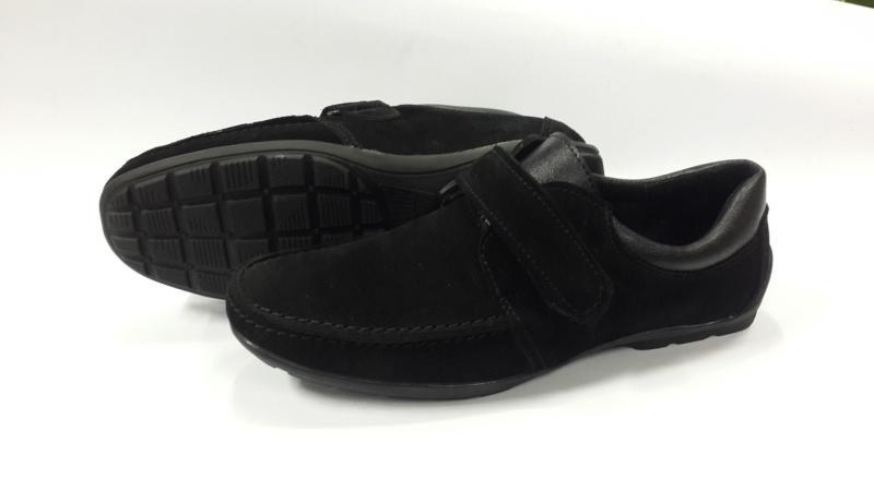 Подростковые замшевые туфли на липучке. Украина