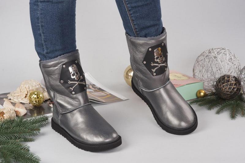 Женские натуральные кожаные угги Plein. Украина