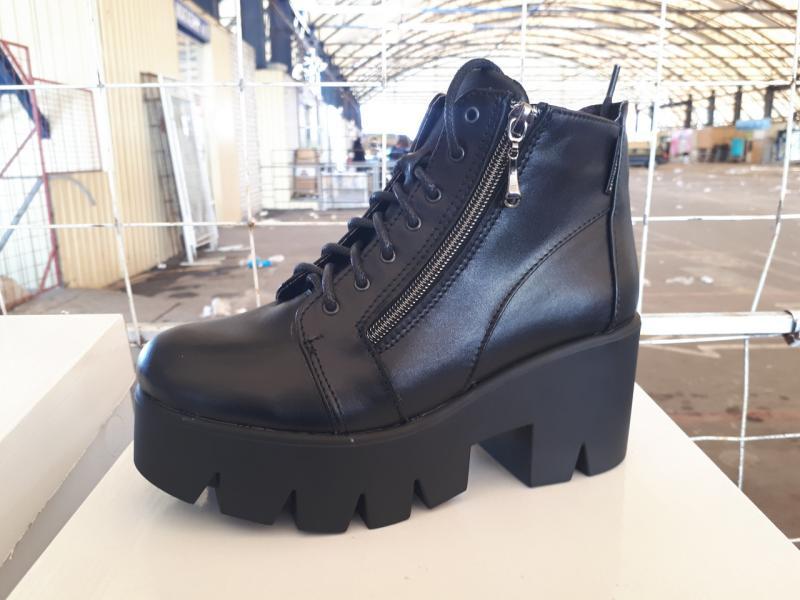 Ботиночки женские кожаные на платформе! Украина