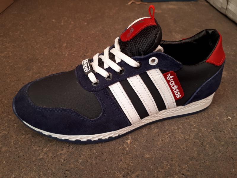 Подростковые кожаные кроссовки Adidas. Украина