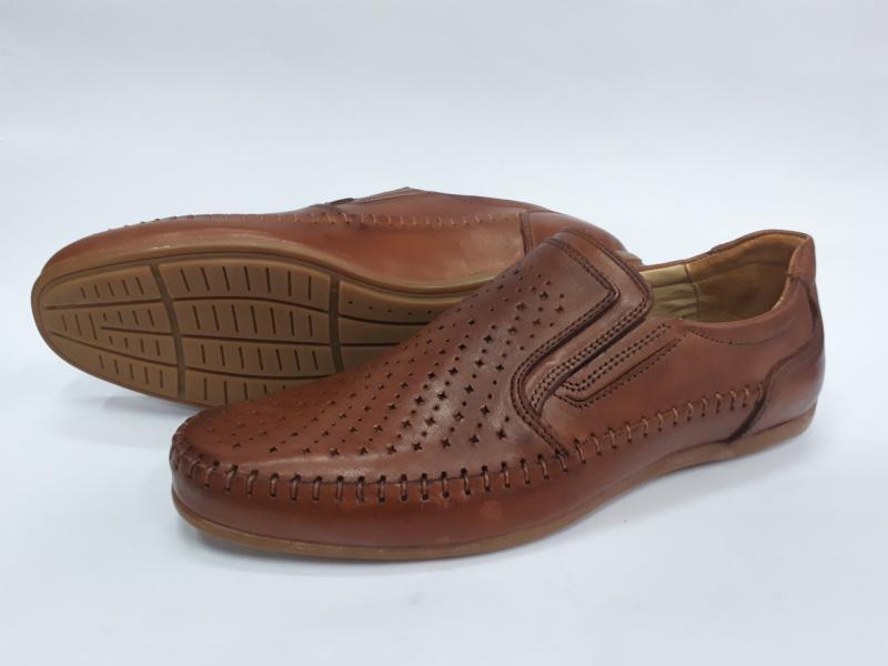 Мужские кожаные летние туфли Friends. Турция
