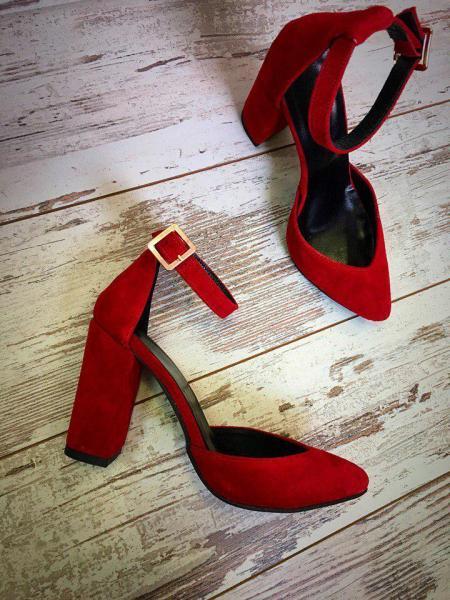 Шикарные женские замшевые туфли. Украина