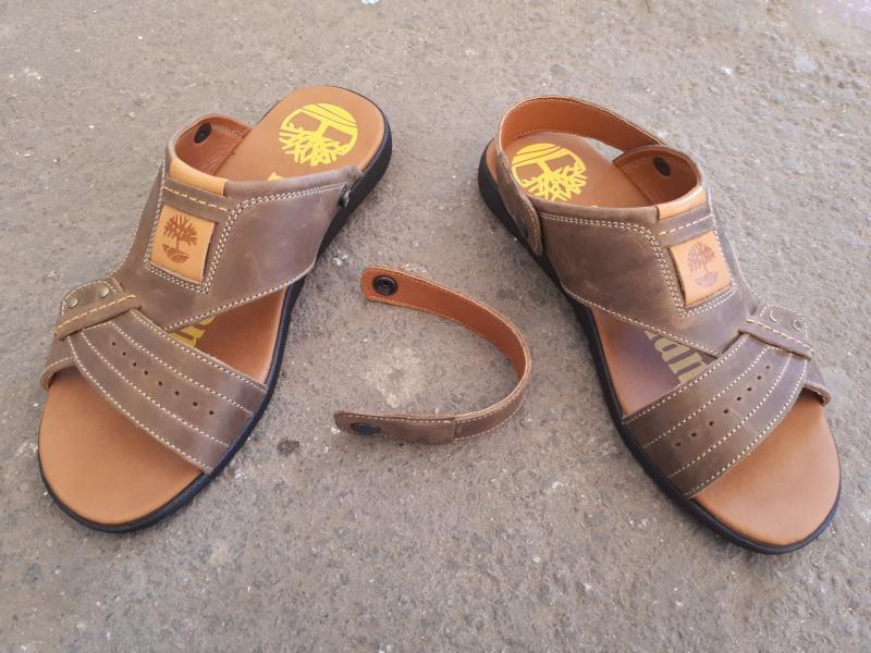 Мужские сандалии-трансформер кожаные. Украина