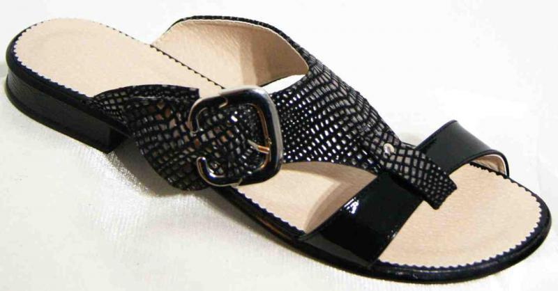 Женские кожаные шлепки больших размеров 36-44рр. Украина