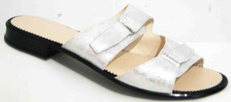 Женские кожаные шлепки на липучках больших размеров 36-44рр. Украина
