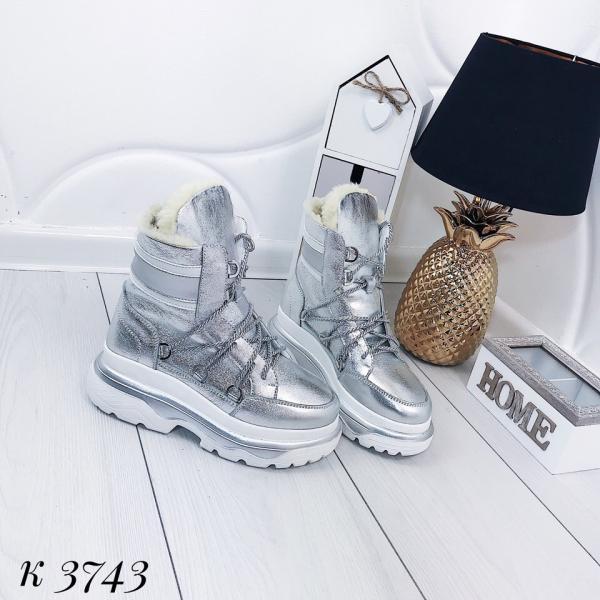 Женские кожаные зимние ботинки.  Украина