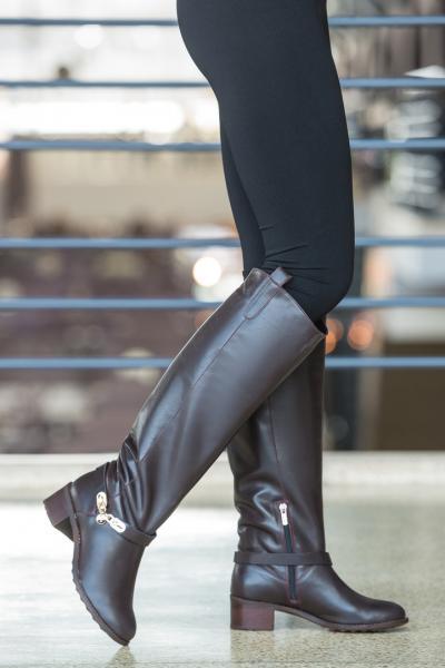 Модные женские сапоги из натуральной кожи. Украина