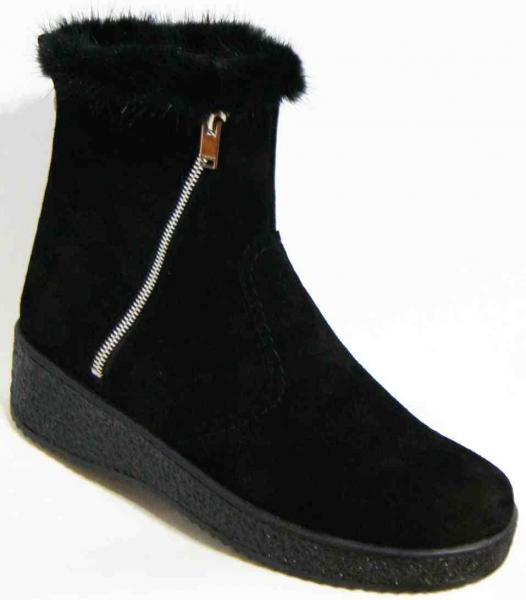 Замшевые женские зимние ботинки 36-44 рр. Украина