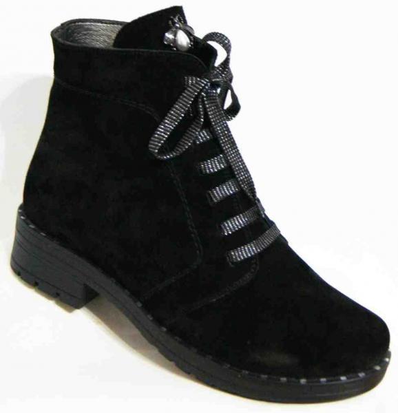 Замшевые женские зимние ботинки 36-43 рр. Украина