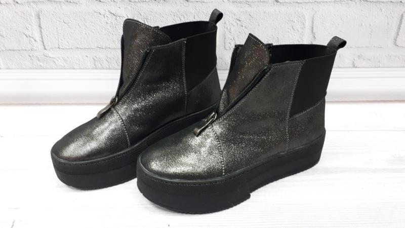 Женские кожаные ботинки на платформе! Украина