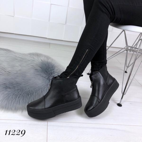 Кожаные женские ботинки на платформе! Украина