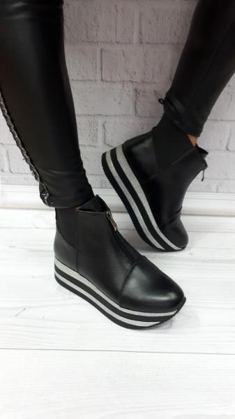Кожаные женские ботинки на байке! Украина