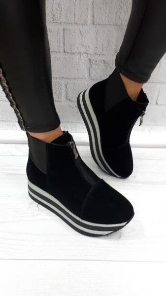 Ботинки женские из замши на байке! Украина