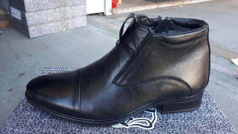 Мужские кожаные ботинки на молнии. Харьков