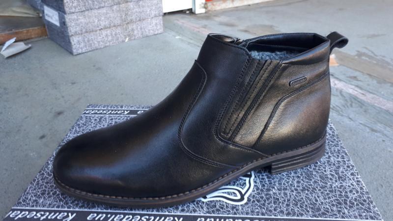 Мужские кожаные ботинки на шерсти. Харьков