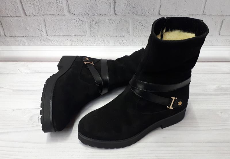 Женские замшевые зимние ботинки Sali. Украина