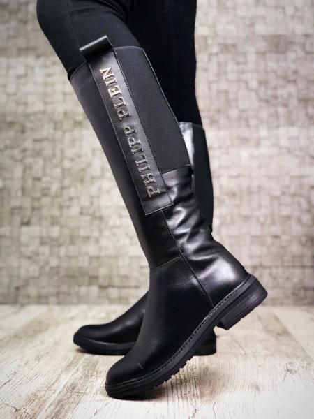 Зимние женские кожаные сапоги P/Pl&in. Украина