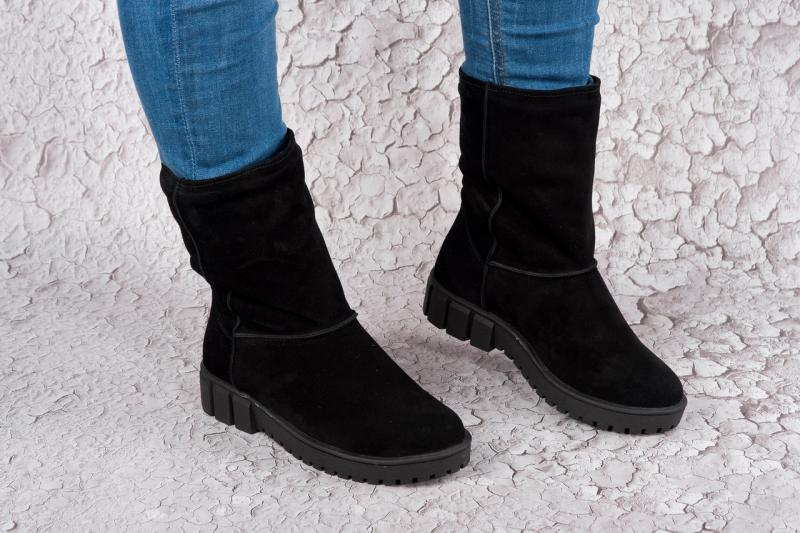 Женские замшевые зимние ботинки-угги. Украина