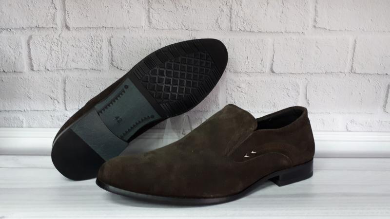 Мужские замшевые туфли. Турция