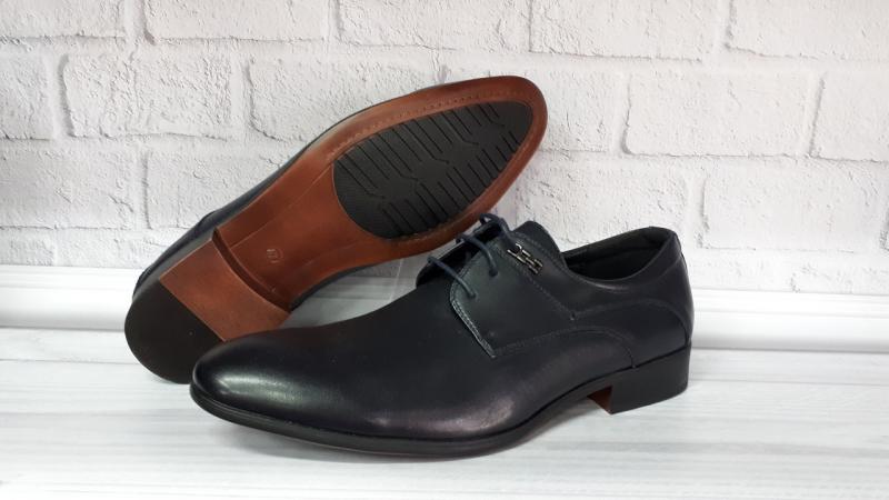 Мужские кожаные туфли на шнурках. Турция
