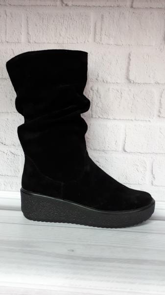 Женские замшевые зимние ботинки.  Украина