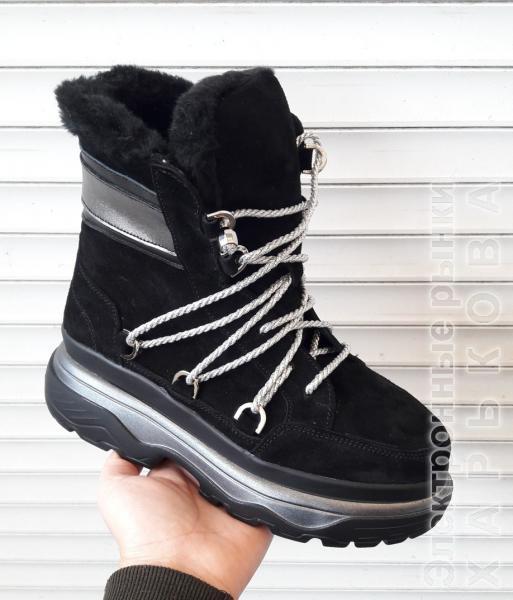 65f4943e Женские замшевые зимние ботинки. Украина - Ботильоны, ботинки женские на  рынке Барабашова