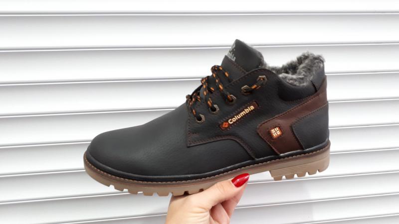 Зимние мужские ботинки Columbia кожаные. Харьков