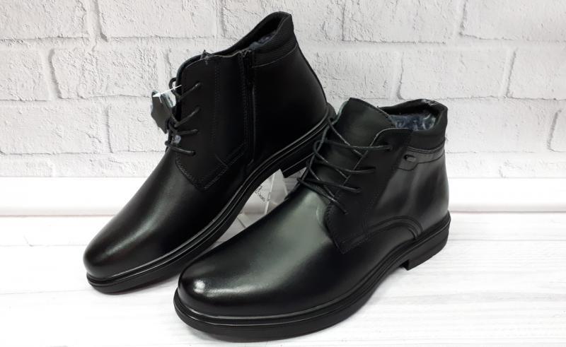 Мужские кожаные зимние ботинки на цигейке. Турция