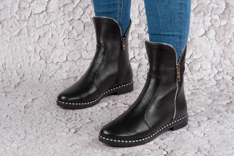 Кожаные зимние ботинки на шерсти. Украина