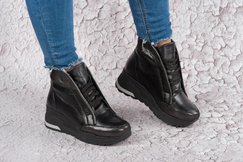 Кожаные женские зимние ботинки Zipp. Украина