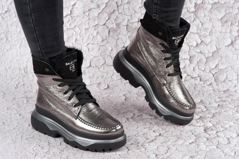 Кожаные женские зимние ботинки Balenc. Украина