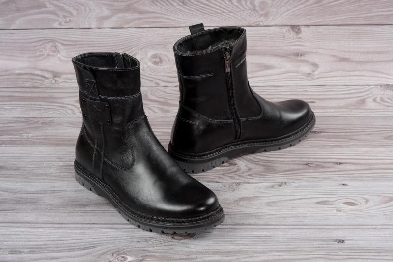 Мужские кожаные высокие ботинки на молнии. Харьков