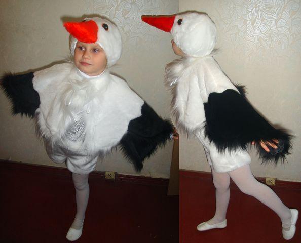 Детский карнавальный новогодний  костюм детский  Аист Лелека 6-8 лет