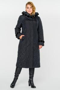 Фото  Пальто утепленное с капюшоном