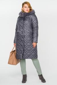 Фото  Зимнее стеганое пальто