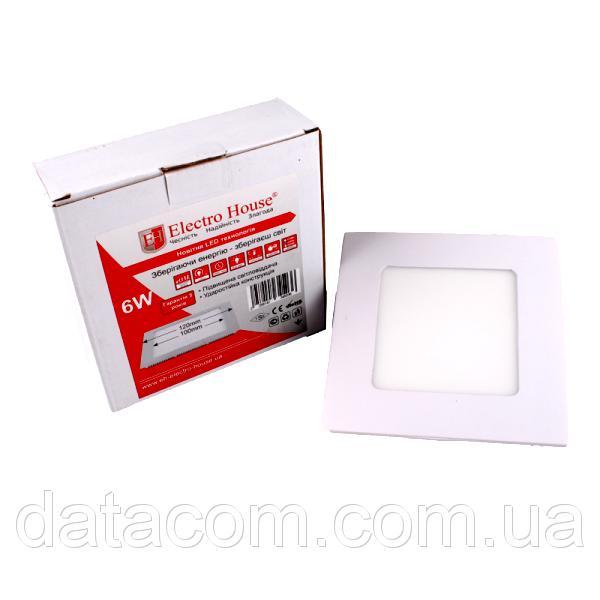 LED панель квадратная 6W 120х120мм. ElectroHouse