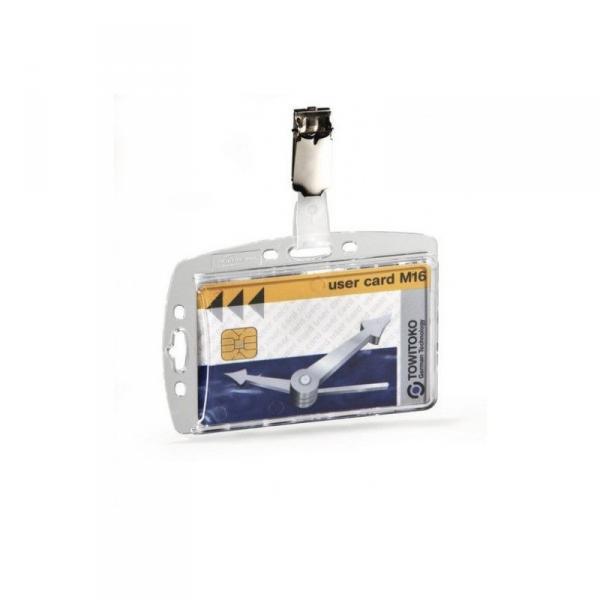 Бейдж для пропусков и магнитных карт 54х85 мм