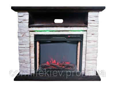 Каминокомплект Bonfire Ellison Stone 24 Mood suite с подсветкой, имитация камня, полистоун