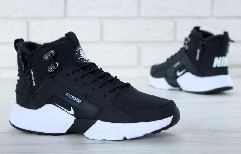 Фото  Nike Huarache X Acronym City Winter Black White (36-45)