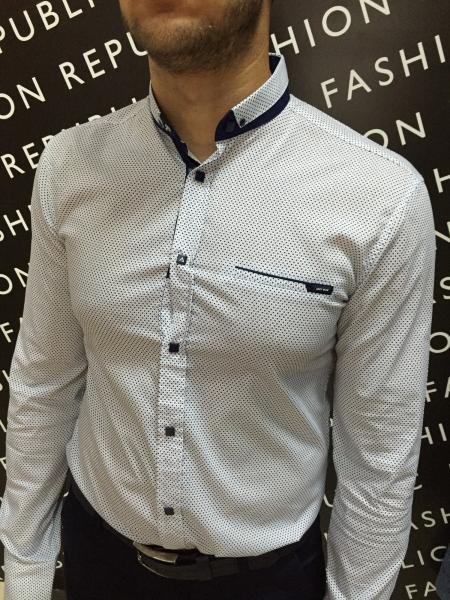 Рубашка мужская Amato 6179 белая