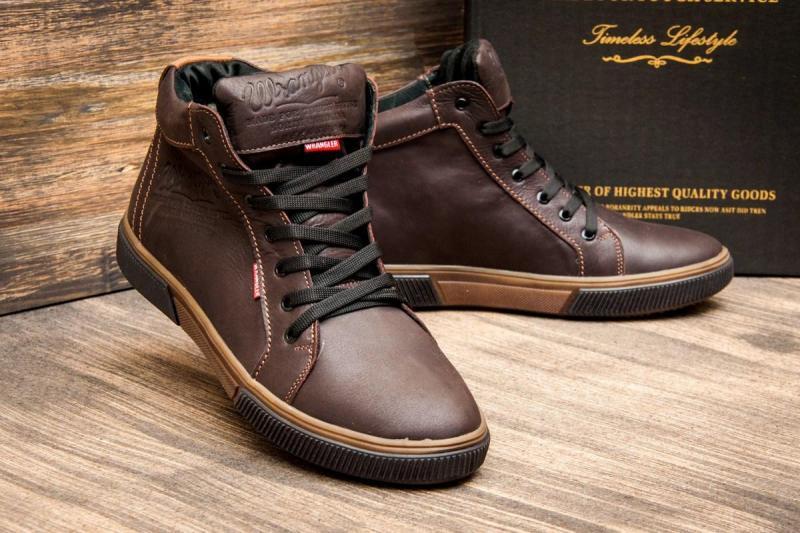 Фото Мужская обувь, Зимняя мужская обвь Ботинки мужские зимние Wrangler коричневые. Харьков