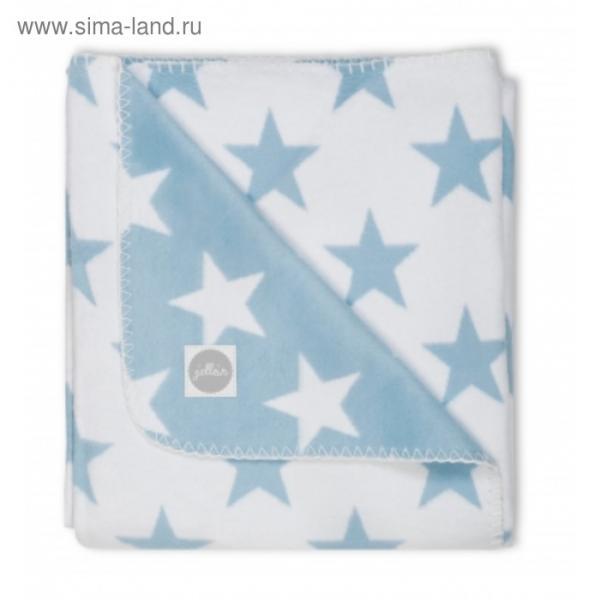 Плед байковый, размер 75х100 см, принт голубые звёзды