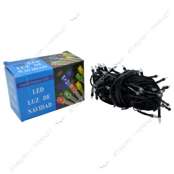 Гирлянда 'Карандаш' 400LED на черном проводе, разноцветные огни с регулировкой