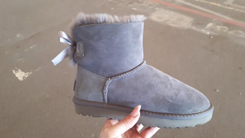 """Натуральные UGG Australia Mini Bailey Bow """"Grey"""". Украина"""