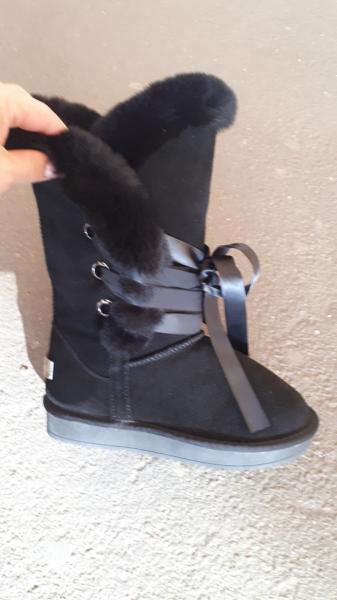 Фото Женская обувь, Зима, Угги, унты Натуральные замшевые UGG Australia высокие на шнурках. Украина