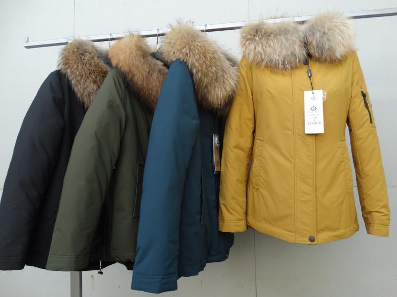 Куртка женская с мехом енота  MEAJIATEER М18-65
