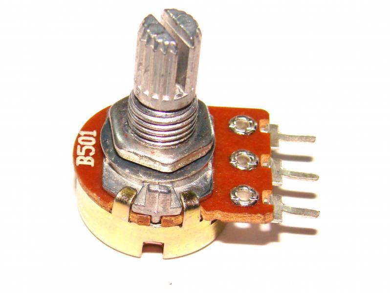 Резистор переменный моно B 500 Ом линейный