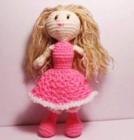 Кукла вязанная, ручная работа